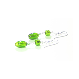 Murano Glass Long Green Dangle Sterling Silver Earrings - JKC Murano