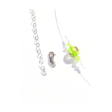 Murano Glass Lime Green Twist Illusion Sterling Silver Necklace, Venetian Jewelry