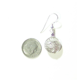 Murano Glass Pale Purple Disc Sterling Silver Earrings