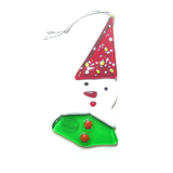 Murano Glass Santa Snowman Tree Ornament - JKC Murano