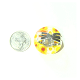 Murano Glass Yellow and White Large Millefiori Ring - JKC Murano