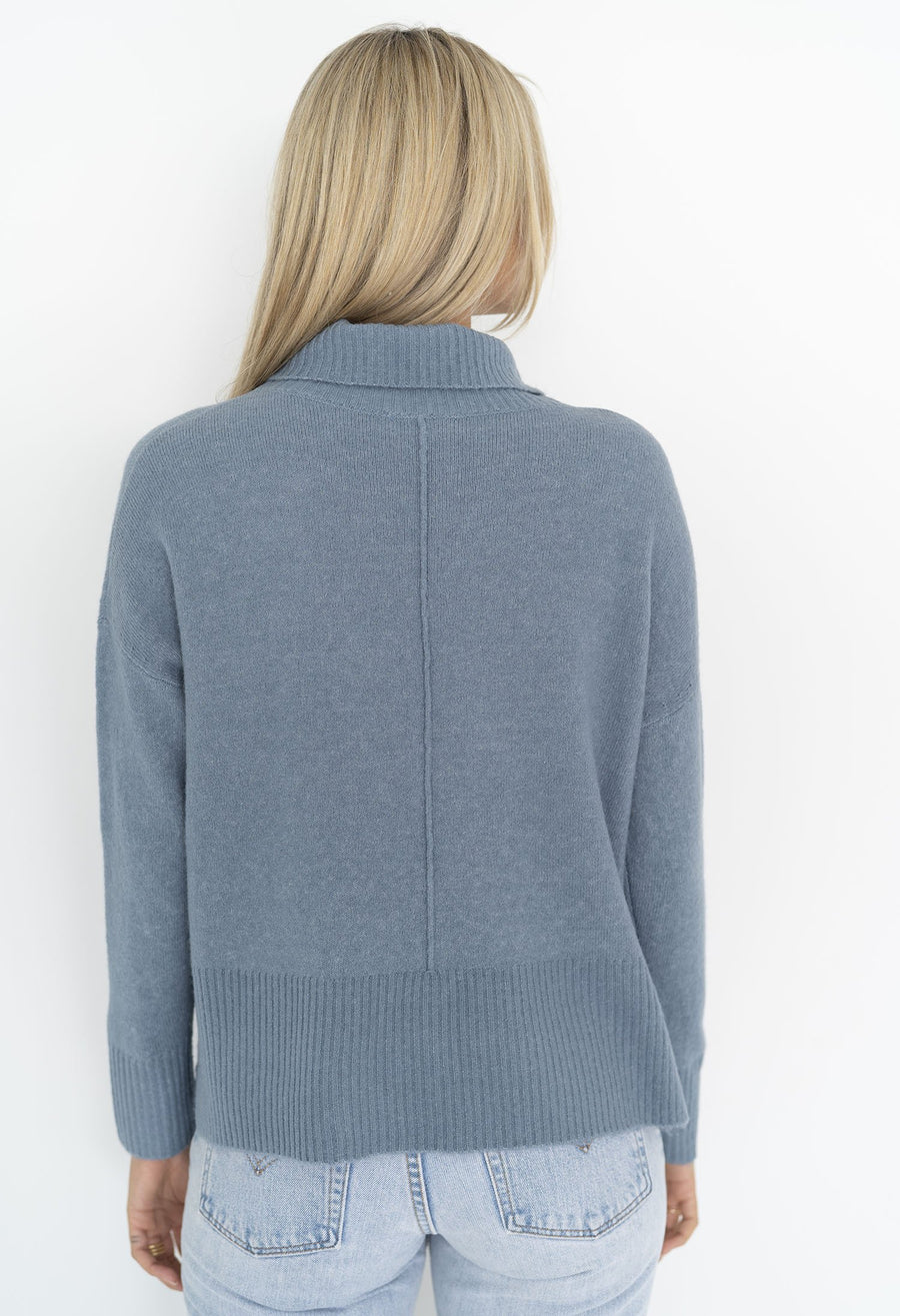 Serenity Roll Neck in Dove Blue