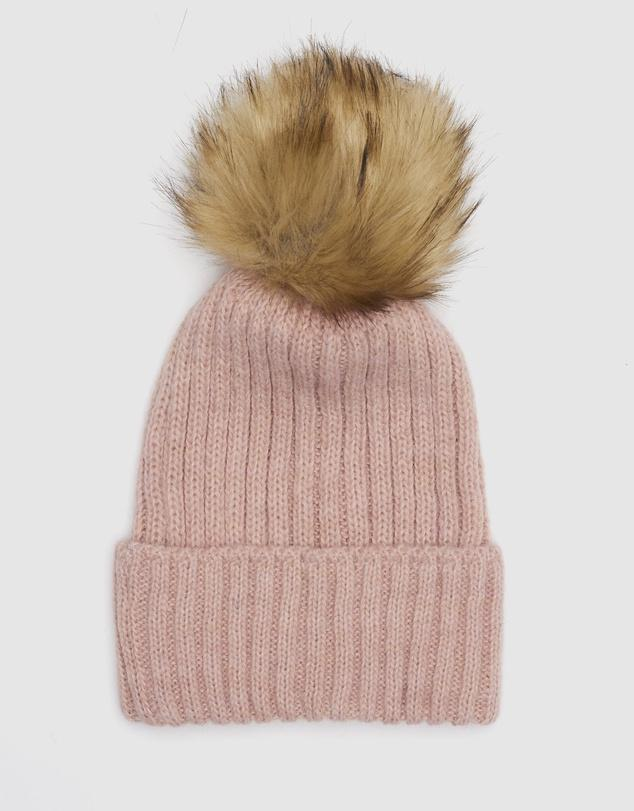 Apres Wool Blend Beanie in Soft Pink