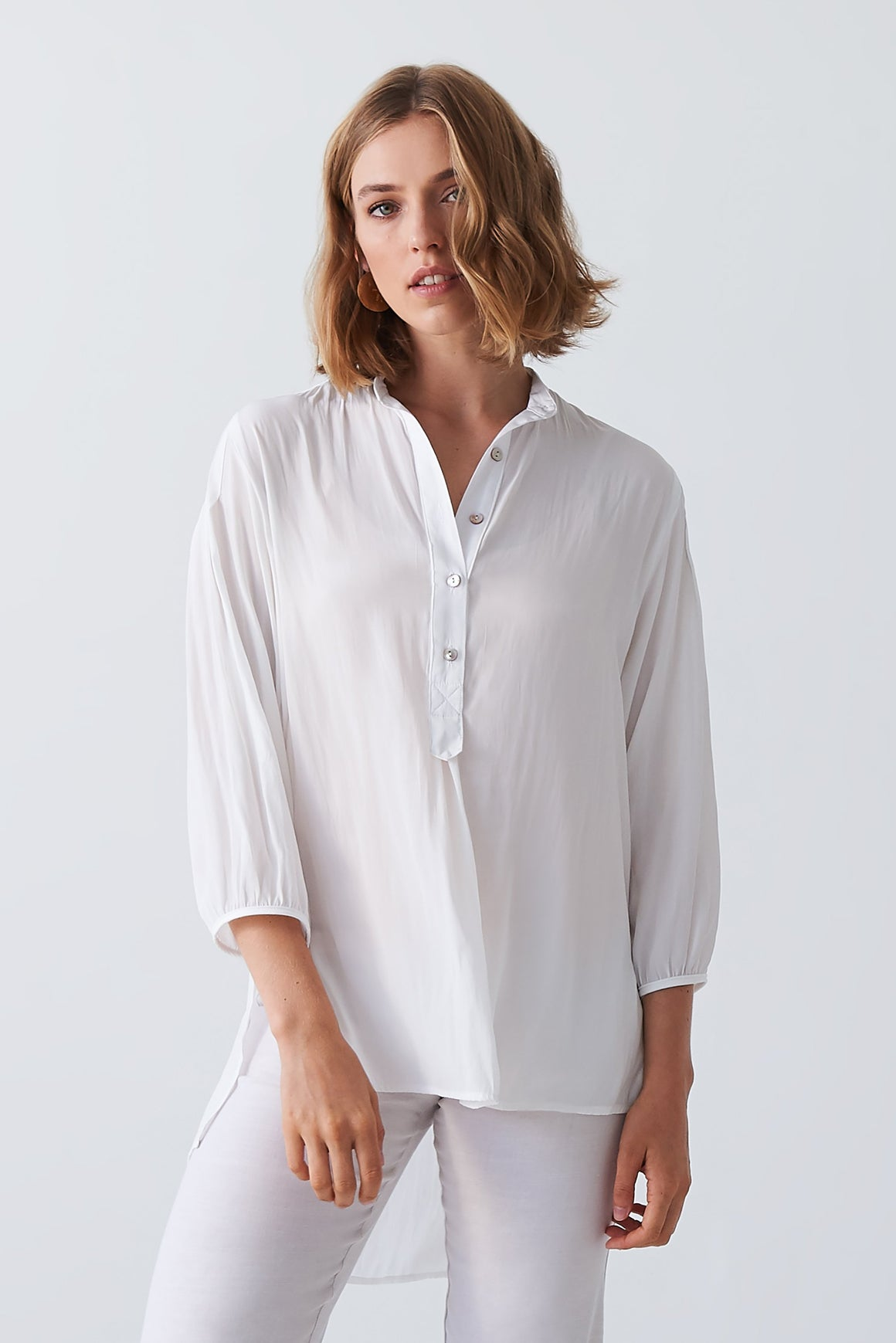 Layer'd Selv Shirt in Ivory
