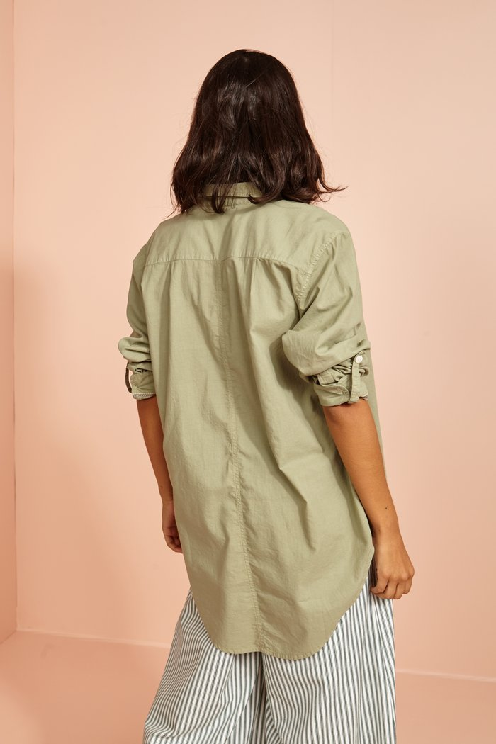 Tiffin Cotton Classic Shirt in Khaki