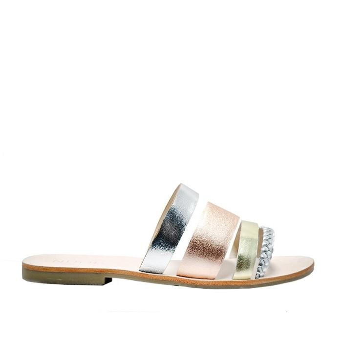 Cuba sandal in Metallic Leather