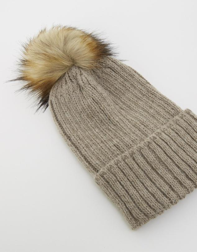 Apres Wool Blend Beanie in Taupe