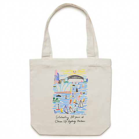 Celebrating 30 Years of Clean Up Sydney Harbour - Canvas Tote Bag