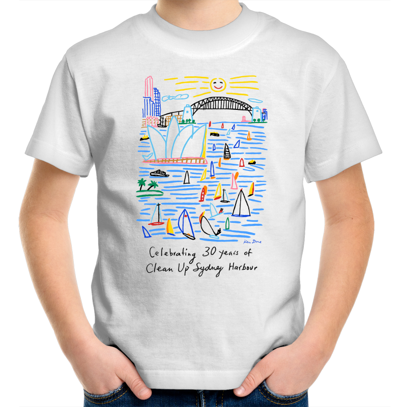 Celebrating 30 Years of Clean Up Sydney Harbour - Kid's T-Shirt