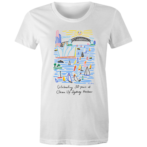 Celebrating 30 Years of Clean Up Sydney Harbour - Women's T-Shirt