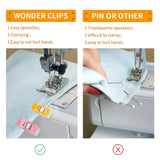 Quilting Supplies Pack of 160 Sewing Clips Multipurpose Wonder with Premium...