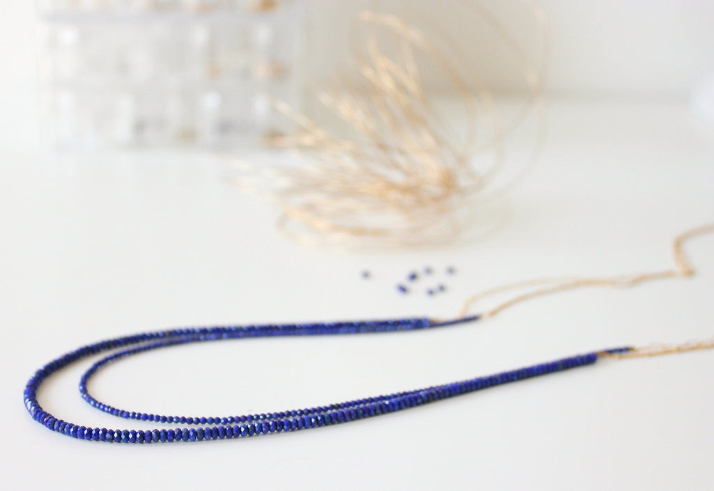 Double harmony necklace Lapis