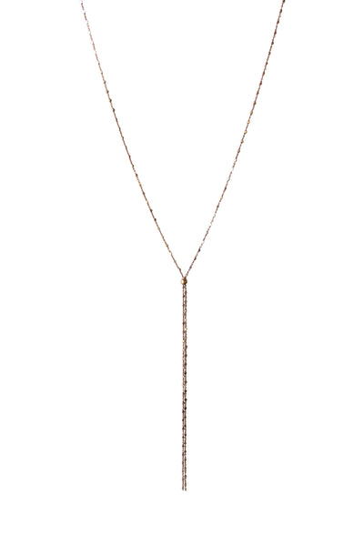 Bolo Necklace in Rose Gold Ultra Sparkle Chain