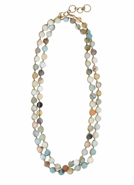 Classic Woven Necklace | Rebecca Scott Jewelry | Handmade Jewelry | Boho Style Necklace | Made in California | Ethical Jewelry | Slow Fashion | Multi color jewelry | Summer Style