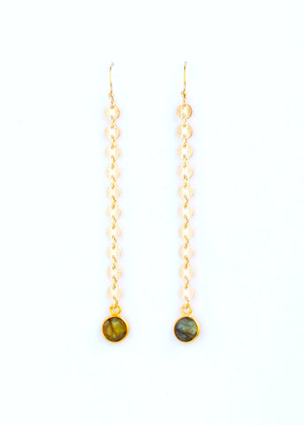 Labradorite Linear Earrings