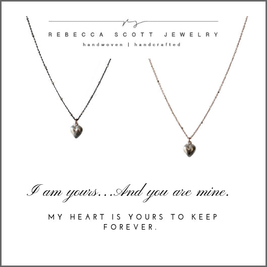 Meaningful Gift | Mother Daughter Necklace Gift Set | Heart Necklace