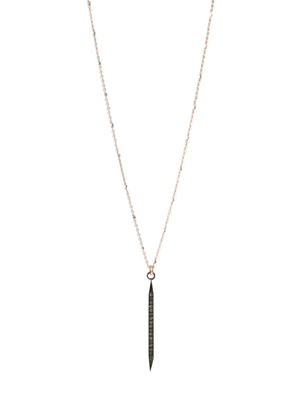 Pave Diamond Dagger Pendant Necklace Medium