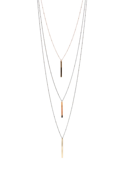 Vertical Bar Necklace | Modern Minimal Necklace | Simple Pendant Necklace | Gold Bar Pendant Necklace | Rebecca Scott Jewelry | Handmade jewelry