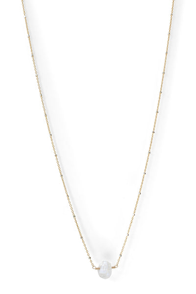 Herkimer Diamond Necklace | REBECCA SCOTT JEWELRY | Simple Everyday Jewelry | Yellow Gold Sparkle Chain
