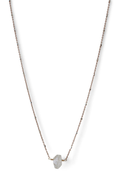 Herkimer Diamond Necklace | REBECCA SCOTT JEWELRY | Simple Everyday Jewelry | Rose Gold