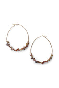Garnet | Multi Color | Earth Tones | Hoop Earrings | Red | Handmade | Wire Wrapped | Rebecca Scott Jewelry | Bridal Jewelry | Earrings | Gold Hoop Earrings | Modern Bohemian | Evening Jewelry