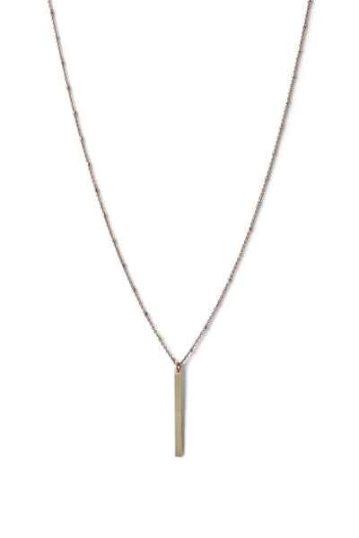 Modern Vertical Bar Necklace 24 Inches