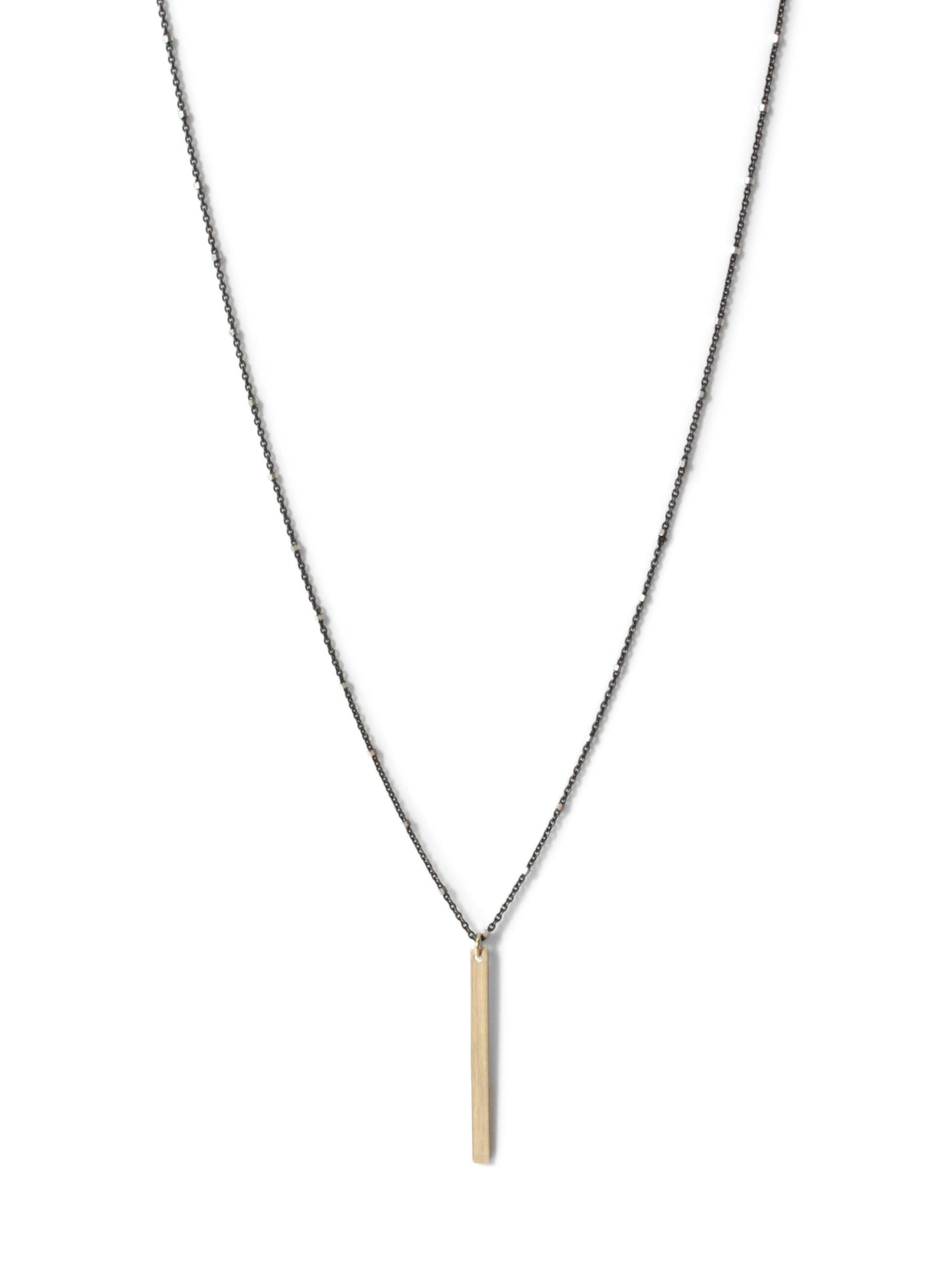 Modern Vertical Bar Necklace 18 Inches