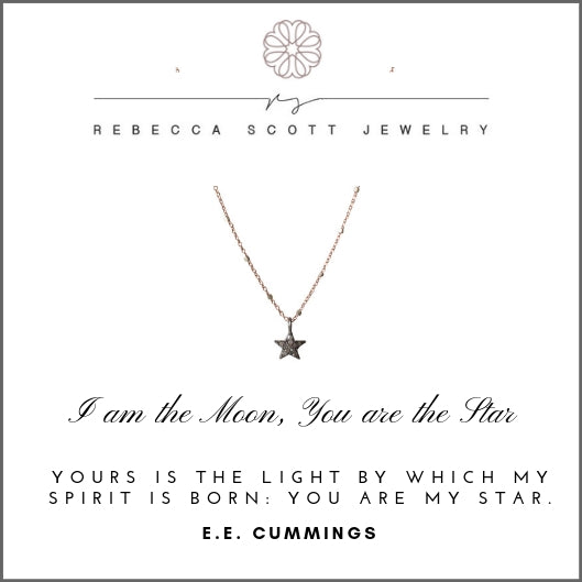 Star Necklace | Rebecca Scott Jewelry | Pave Diamond Star Charm| Mother Daughter Necklace | Meaningful Gift | Gift for her | Rose Gold | Made in USA