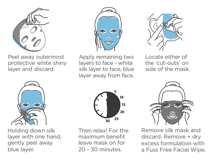 Fuss Free Natural Face Sheet Mask Instructions