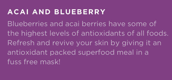 Fuss Free Naturals Acai and Blueberry Facial Sheet Mask