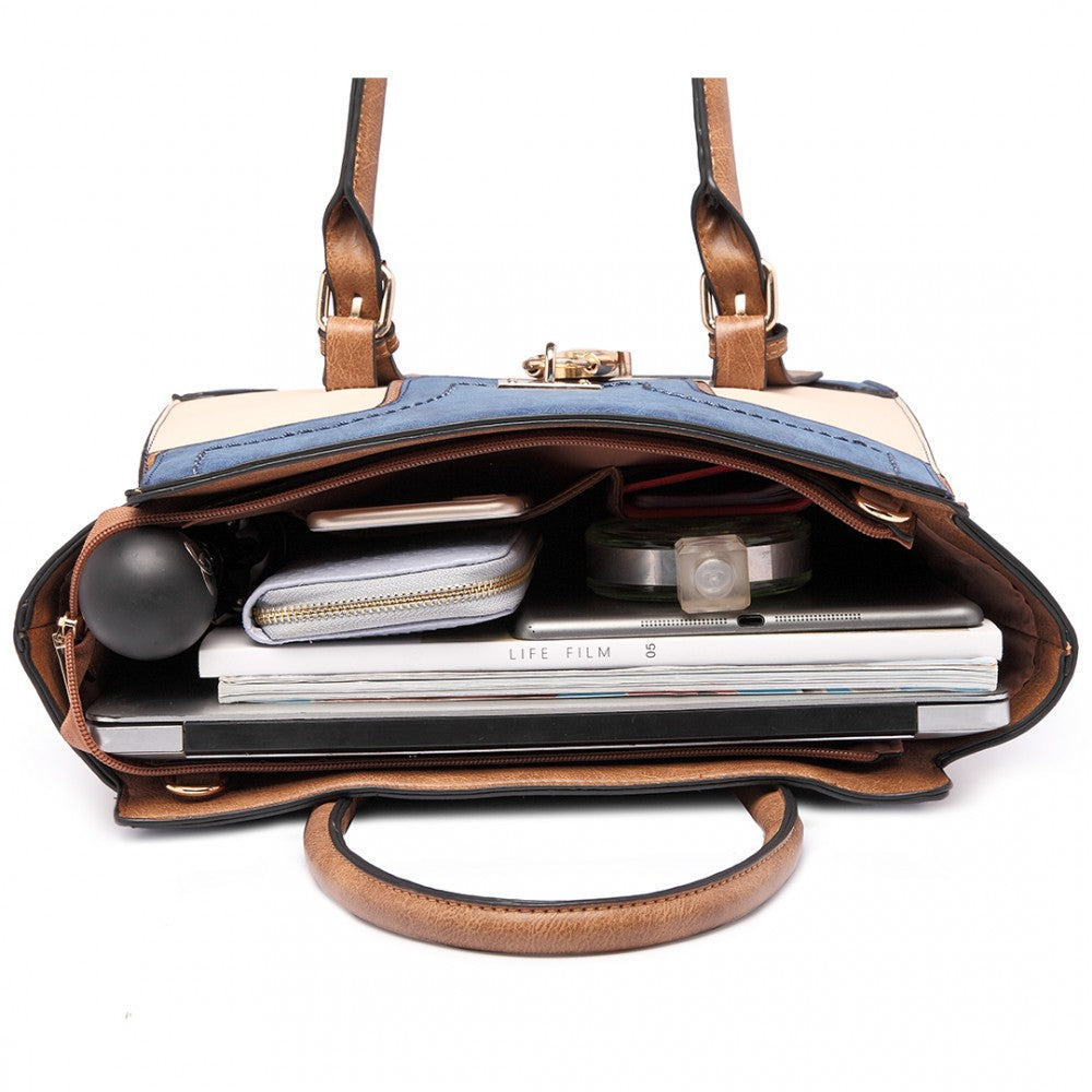 PADLOCK WINGED SHOULDER BAG-Handbags-ML-Daring Diva Australia