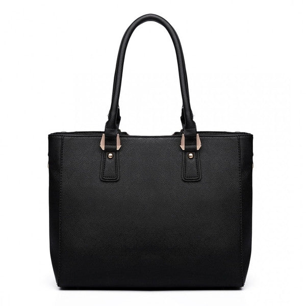 Z-SPLICING TOTE BAG BLACK-SOLD-SOLD-Daring Diva Australia