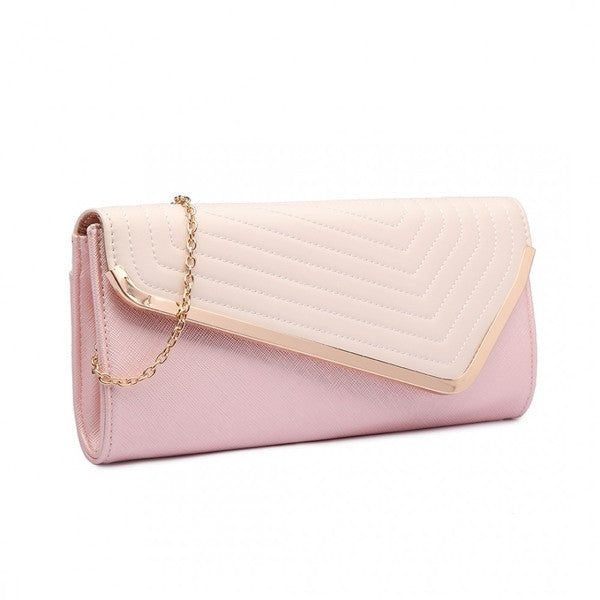 Quilted Envelope Clutch-Handbags-ML-Daring Diva Australia