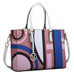 DIGITAL PRINT HANDBAG PINK-Handbags-ML-Daring Diva Australia