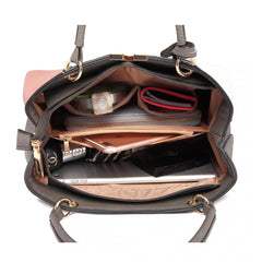 COLOUR BLOCK PANEL SHOULDER BAG PINK-SOLD-SOLD-Daring Diva Australia
