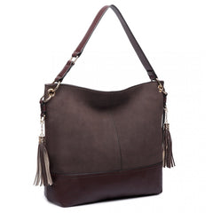 LEATHER TASSEL HOBO BAG-Handbags-ML-Daring Diva Australia