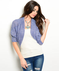 Z-ROYAL BLUE SHRUG-SOLD-SOLD-Daring Diva Australia