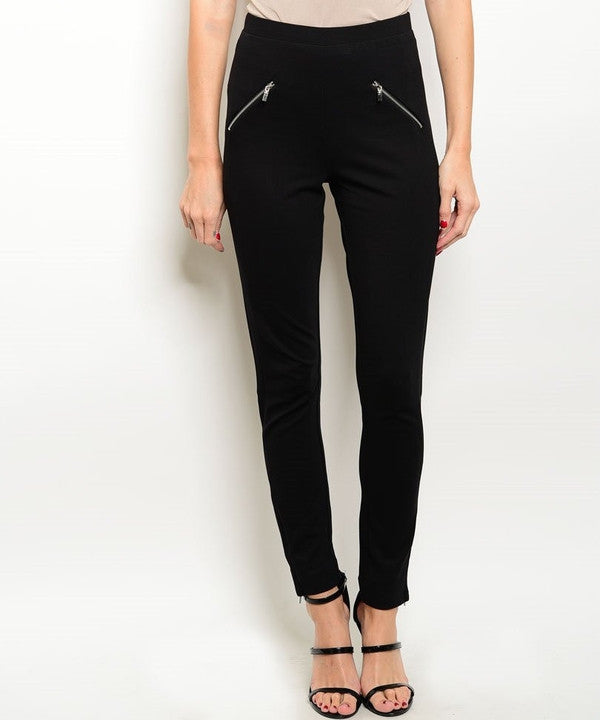 FITTED ZIP UP SKINNY PANTS-SOLD-SOLD-Daring Diva Australia