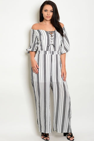 Heather Monochrome Jumpsuit-Jumpsuits-WFSPN-Daring Diva Australia