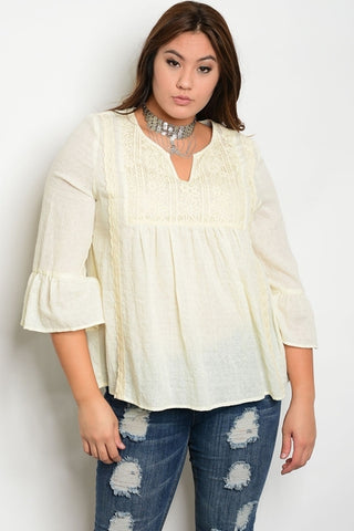 Macey Natural Boho Top-Clearance-WFSP-16-Daring Diva Australia