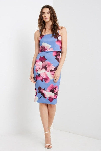 PRE-ORDER Marianne Floral Bodycon Dress-Dresses-Daring Diva Australia-8-Daring Diva Australia