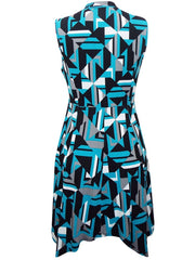Z-High Neck Geo Printed Jersey Dress-SOLD-SOLD-Daring Diva Australia