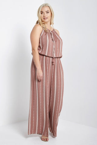 Helena Striped Jumpsuit Mauve-S-Jumpsuits-Stockists-Daring Diva Australia
