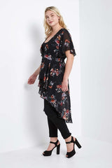 PRE-ORDER Karina High Low Wrap Duster-S-Outerwear-Stockists-Daring Diva Australia