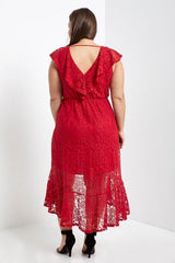 Aimee Midi Wrap Dress-Dresses-MT-Daring Diva Australia