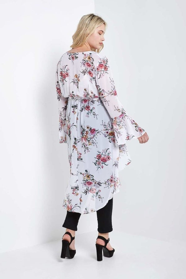 Jeanine High Low Wrap Duster-SOLD-SOLD-Daring Diva Australia