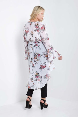 PRE-ORDER Jeanine High Low Wrap Duster-S-Outerwear-Stockists-Daring Diva Australia