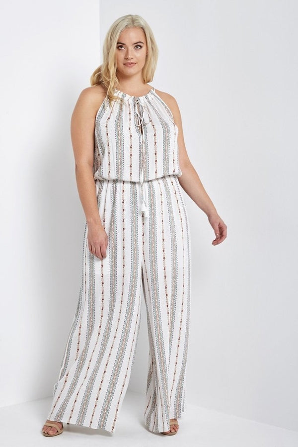 Helena Striped Jumpsuit-Jumpsuits-MT-Daring Diva Australia