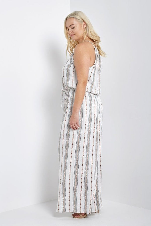 PRE-ORDER Helena Striped Jumpsuit White-S-Jumpsuits-Stockists-Daring Diva Australia