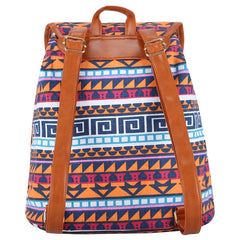 Geo Canvas Backpack Blue-Accessories-Backpacks-Daring Diva Australia